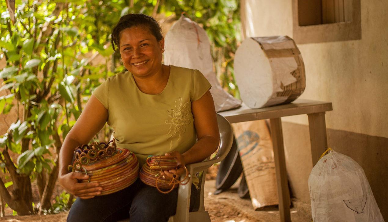 Nicaragualainen Aura Florian on saanut uutta rohkeutta Solidaarisuuden hankkeesta.