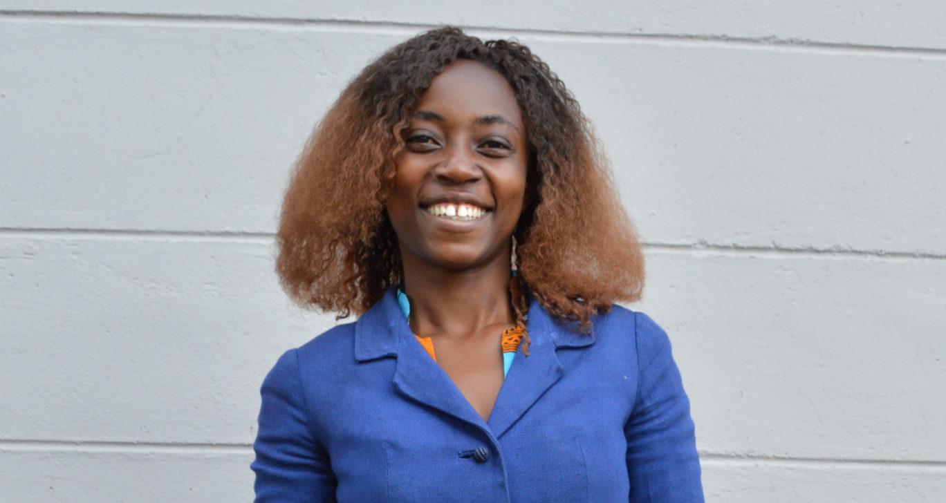 Grace Kerubo bloggaa Keniasta käsin silpomisperinteestä. Kuva Airi Kähärä