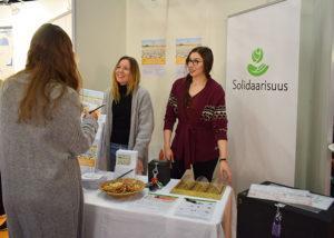 Solidaarisuuden Viimeinen pisara -pulmapeliä tilattiin ahkerasti kouluihin Educa-messuilla.