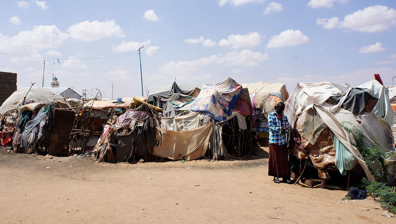 Pakolaisleiri Somalimaassa.